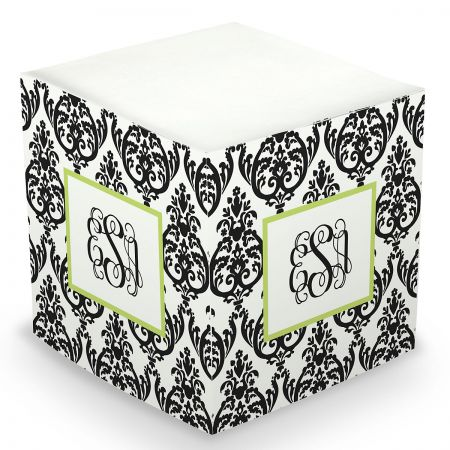 Personalized Damask Sticky Memo Cube