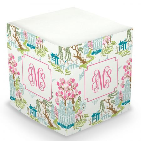Personalized Chinoiserie Sticky Memo Cube