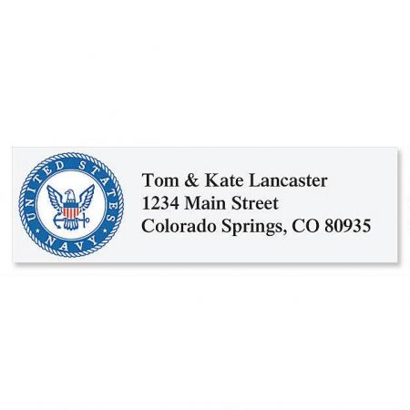 Navy  Classic Address Labels