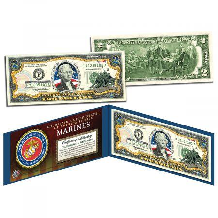 USA Marines 2 Dollar Bill