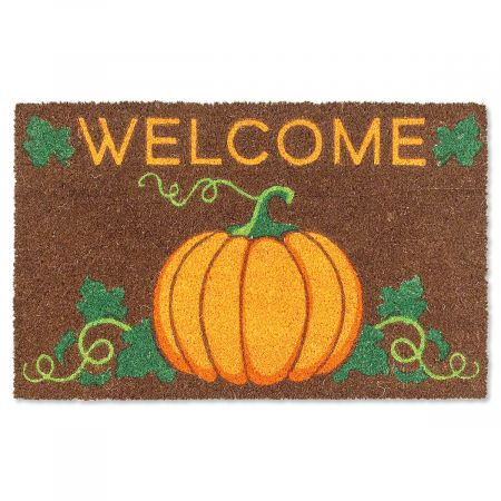 Welcome Pumpkin Coir Mat