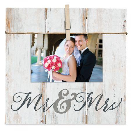 Mr. & Mrs. Photo Frame Plaque