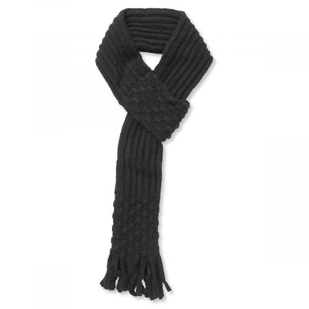 Pull Through Knit Scarf - Black