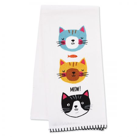 3 Crazy Cat Kitchen Towel The perfect kitchen towel for cat lovers! 100% cotton, machine wash/tumble dry, 16 x 26 .