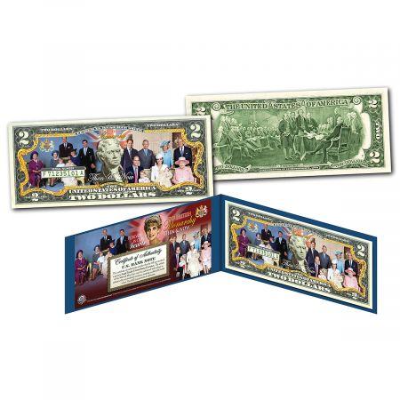 Royal Family 2 Dollar Bill