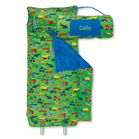 Personalized All Over Transportation Print Nap Mat By Stephen Joseph