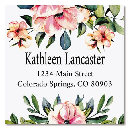 You're Special Large Square Address Labels These self-stick labels are so large that only 12 fit on an 8 1⁄2 x 11  sheet. (You receive 3 sheets.) Your square label set includes 36 large self-adhesive personalized labels, each measuring 2 1/4  x 2 1/4 . We'll print them with the name and address, message, or information you choose. Specify line 1 of personalization, up to 18 characters and lines 2-3 of personalization, up to 26 characters.