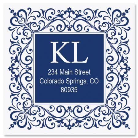 Simple Elegance Large Square Address Labels