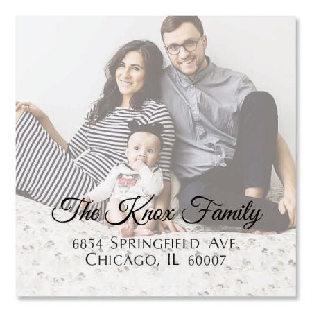 Full Large Square Photo Personalized Address Labels