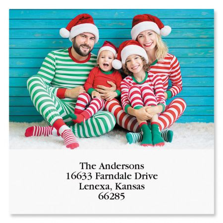 Large Square Photo Personalized Address Labels