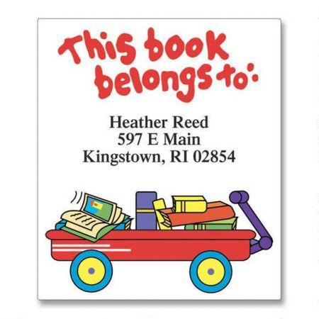 Lil' Wagon Bookplate Labels