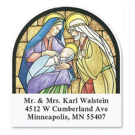 Stained Glass Diecut Address Labels