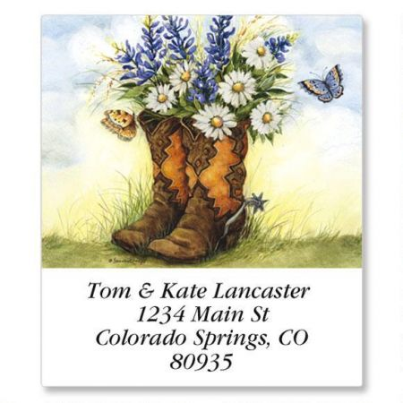 Country Boots Select Address Labels