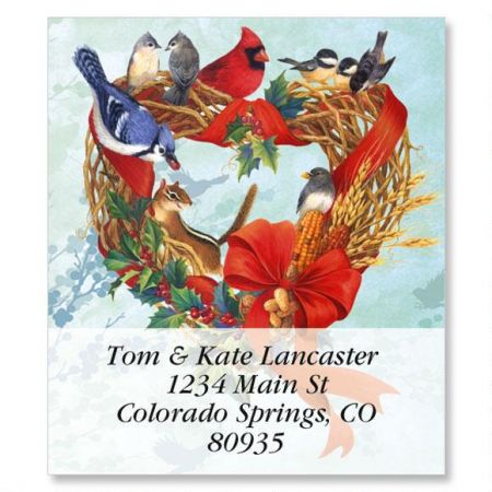 Birdland Wreath Select Address Labels