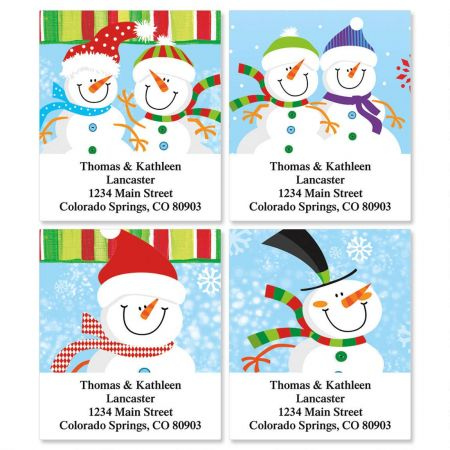 Happy Snowman Select Address Labels  (4 designs)