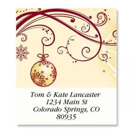 Cranberry Lace Select Address Labels