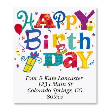 Wonderful Birthday Select Address Labels
