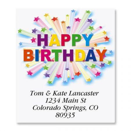 Birthday Star Select Address Labels