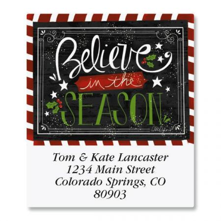 Believe In The Season Select Address Labels