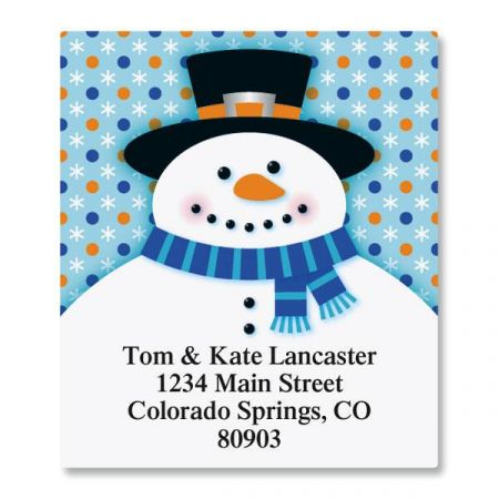 Festive Snowman Select Address Labels