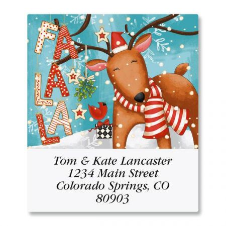 Reindeer Cheer Select Address Labels