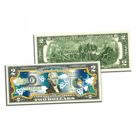 Tooth Fairy Good Luck 2 Dollar Bill