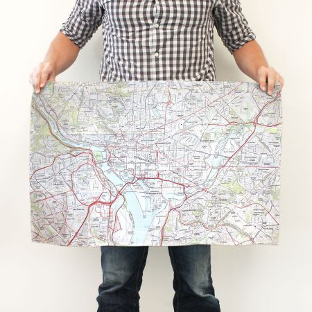Personalized Map Kitchen Towel