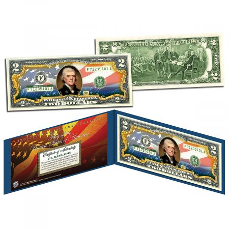 USA Flag 2 Dollar Bill