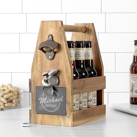 Personalized Acacia Craft Beer Carrier