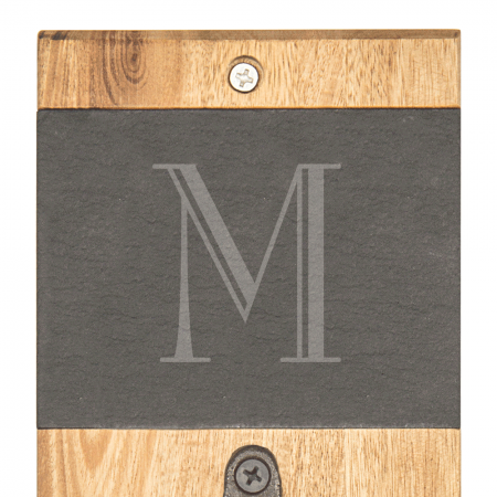 Personalized Acacia Slate Wall Mount Bottle Opener Name