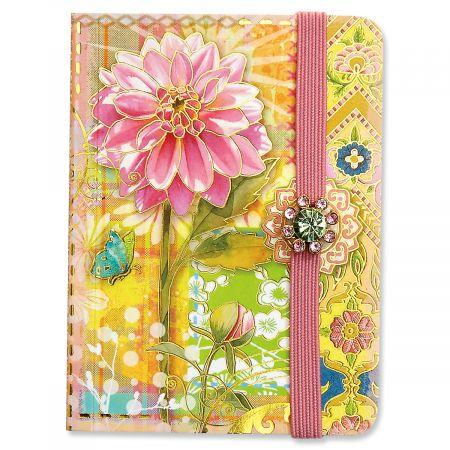 Pink Dahlia Pocket Notepad