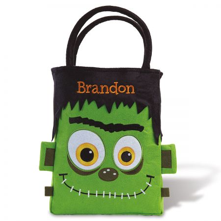 Personalized Frankenstein Treat basket front