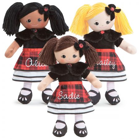 Rag Doll in Plaid Dress