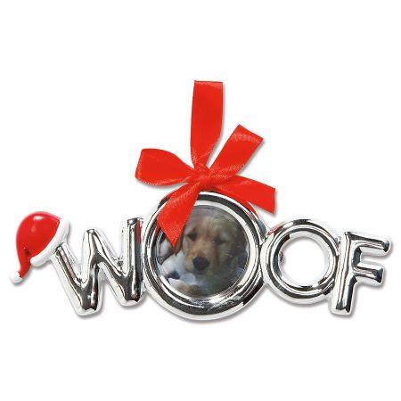 Woof Photo Ornament