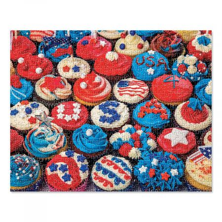 Patriotic Cupcake Puzzle