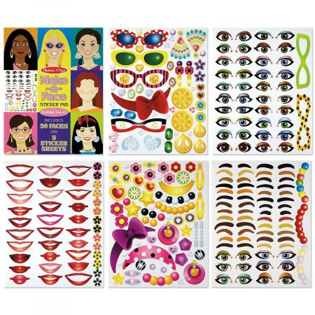 Fashion Make-A-Face Sticker Pad