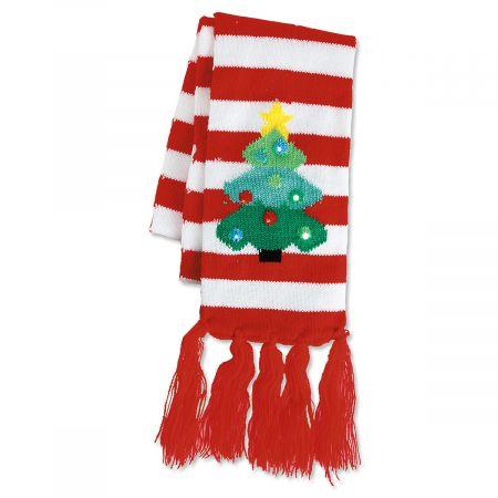 Lighted Christmas Tree Scarf