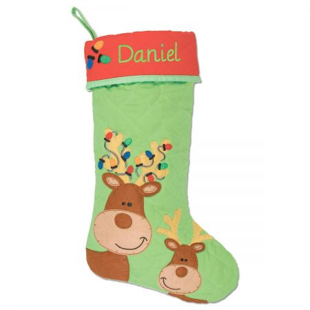 Personalized Reindeer Christmas Stocking by Stephen Joseph®