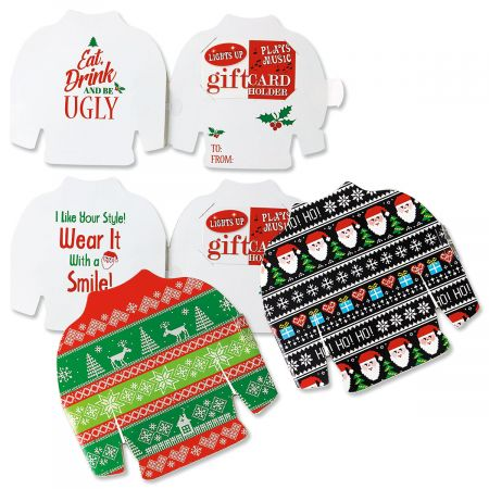 Ugly Sweater Musical Gift Card Holder