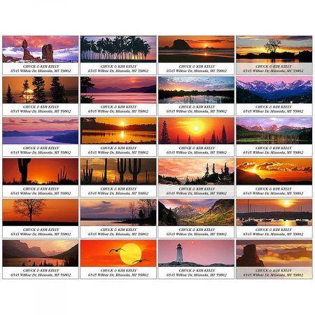 Sunrise & Sunset Deluxe Address Labels  (24 designs)