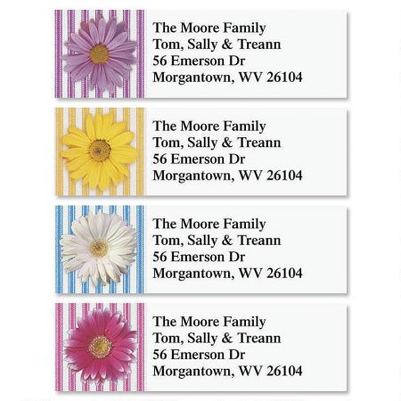Daisy Classic Address Labels  (4 Designs)