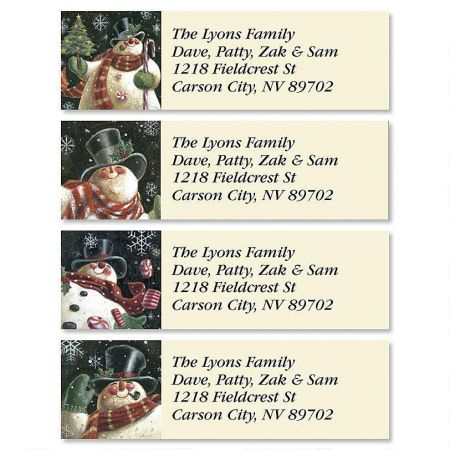 Joyous Snowman Classic Address Labels  (4 Designs)