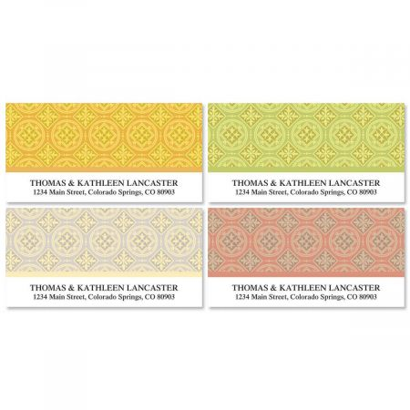 Italian Tile  Deluxe Address Labels  (4 designs)