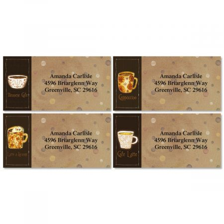 Coffee House Border Address Labels  (4 Designs)