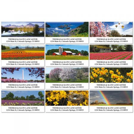 Spring Across America Deluxe Address Labels  (12 designs)