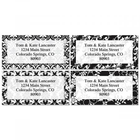elegant in black border address labels current catalog
