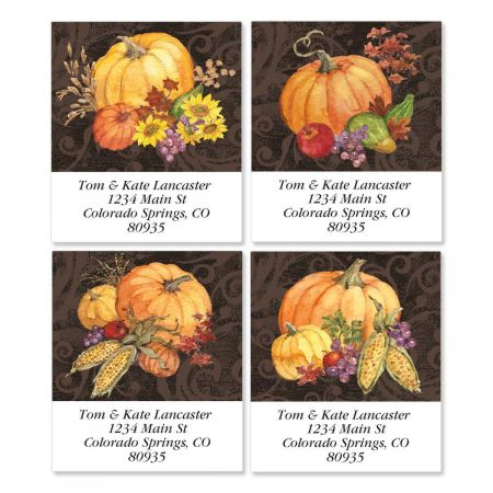 Bountiful Harvest Select Address Labels  (4 designs)