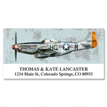 Vintage Airplanes Deluxe Address Labels  (6 designs)