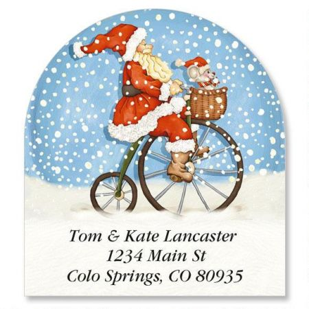 Snowabunga Diecut Address Labels  (6 designs)