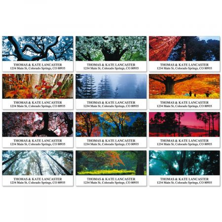 Seasons Of Trees Deluxe Address Labels  (12 designs)